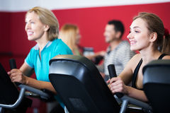 Active adults in gym Stock Image