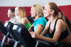 Active adults in gym Royalty Free Stock Images