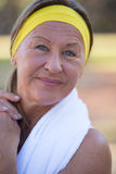 Active attractive mature woman outdoor Stock Images