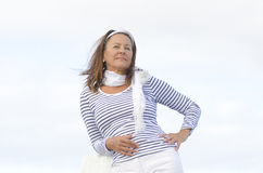 Active attractive retired woman Stock Image