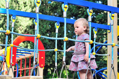 Active baby girl Royalty Free Stock Images