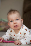 Active baby unhappy Royalty Free Stock Photography