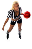 Active Basketball Girl. Active girl in athletic wear playing basketball Stock Images
