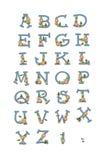 Active Bee Alphabet A-Z Royalty Free Stock Photo