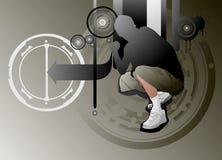 Active boy. Illustration drawing of active boy Vector Illustration