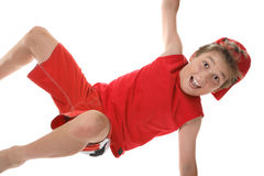 Active boy closeup Stock Images
