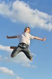Active boy jumping Royalty Free Stock Photography
