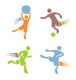 Active boys fitness sports set 2. Icons of children exercising healthy lifestyle Stock Photo