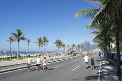 Active Brazilians Exercising Rio de Janeiro Brazil Stock Photo