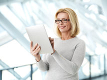 Active business woman portrait Stock Photos