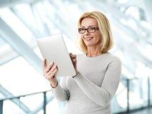 Active business woman portrait Stock Photos