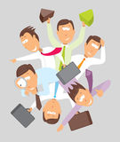 Active businessman busy multitasking circle Stock Images