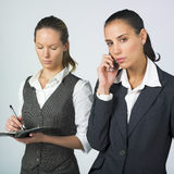 Active businesswoman Stock Photography