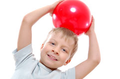 Active child  with a ball Stock Image