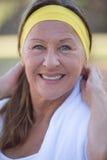 Active confident mature woman outdoor Royalty Free Stock Photos