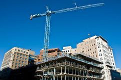 Active construction site with crane Stock Photography