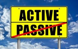 Active contra voz pasiva Imagen de archivo libre de regalías