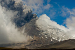 Active Cotopaxi volcano erupting Stock Photography