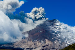 Active Cotopaxi volcano erupting Royalty Free Stock Images