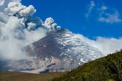 Active Cotopaxi volcano erupting Royalty Free Stock Photos