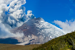 Active Cotopaxi volcano erupting Royalty Free Stock Photo
