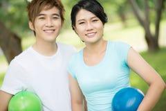 Active couple Stock Photos