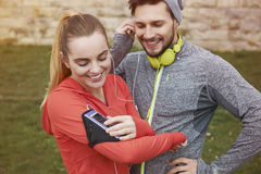 Active couple Royalty Free Stock Photography