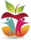 Active couple logo Stock Photography