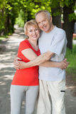 Active couple during a walk Royalty Free Stock Photography