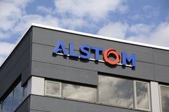 Active de Alstom en el campo de la energía y del transporte Imagen de archivo libre de regalías