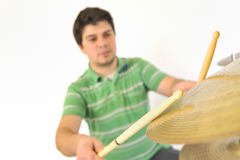 Active drummer Royalty Free Stock Photography