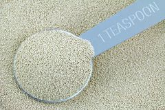 Active dry Baking yeast granules Royalty Free Stock Image
