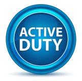 Active Duty Eyeball Blue Round Button royalty free illustration
