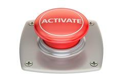 Active el botón rojo, representación 3D Imagenes de archivo