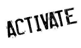 Active el sello de goma Imágenes de archivo libres de regalías