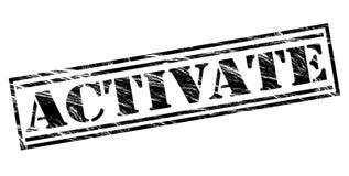 Active el sello negro Fotografía de archivo libre de regalías