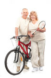 Active elderly couple Royalty Free Stock Photo