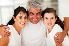 Active family closeup. Happy active family closeup portrait at home stock photography