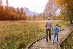 Family in yosemite stock images