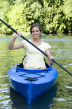 Active female in Kayak Royalty Free Stock Photo