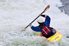 Active female kayaker Royalty Free Stock Image