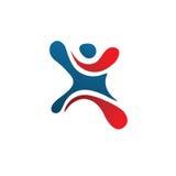 Active figure logo sport. Creative letter X logo. Abstract business logo design template. modern Letter X Logo Stock Images