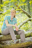 Active and Fit Woman in Nature Royalty Free Stock Photo