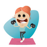 Active fitness girl lifting weights Royalty Free Stock Photo