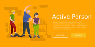 Active fitness person man and woman workout in gym Royalty Free Stock Images