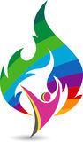 Active flame logo Stock Photos