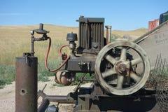 An active flywheel on a self-powered derrick Stock Photos