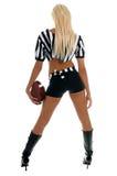 Active Football Girl Stock Image