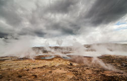 Active Geothermal Area. Image from a active geothermal area located at Reykjanes peninsula in Iceland royalty free stock images