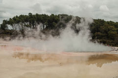 Active Geothermal area Stock Photo